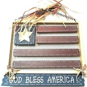 Other - Wood Flag Sign God Bless America Patriotic